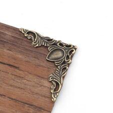 Corner Metal 40*40mm 4Pcs Filigree Triangle Flower Wraps Ancient Bronze Tools