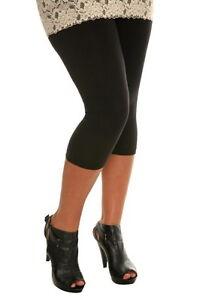Women Premium Cotton Stretch Plus Size Yoga Capris Crop Leggings 2X -5X USA