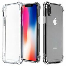 Shockproof Clear Silicone Case For Apple iPhone X 10 Thin Soft TPU Back Cover