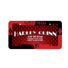 "DC Comics Harley Quinn Plastic License plate frame Auto Tag Universal 12.5"" x 6"""