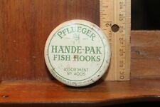 Antique Pflueger Hande-Pak Fish Hooks Tin Box