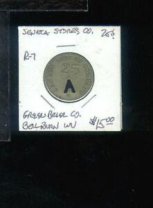CR) Coal Scrip Seneca Stores Co 25 cent R-7 Bellburn WV
