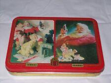Coke Coca Cola Playing Cards Tin Christmas Santa New -080918