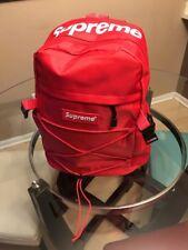 New Unused Red Supreme Backpack Waterproof School Bag Laptop Bag
