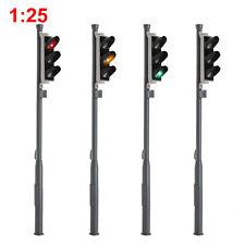 4pcs G Scale Model Signals Red/Yellow/Green 1:25 Block Signal Traffic Lights