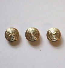 9 ~ Gold & Silver Metal Textured Shank Button's 15mm