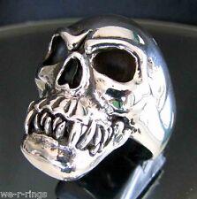 Cannibal Skull Ring 31 grams Sterling Silver 925 RG59/S