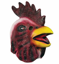 Chicken Rooster Head Farm Animal Adult Mens Costume Overhead Latex Mask
