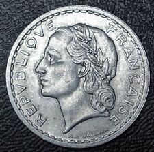 1949 B FRANCE - 5 FRANCS - ALUMINUM - Nice Coin