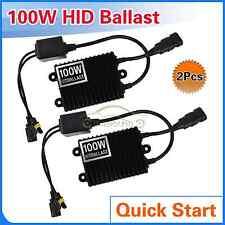 2Pcs 100W Quick Start HID Ballast for Bi-xenon Headlight Bulb Kit t H1 H4 H11 H7