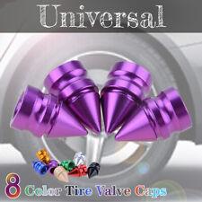 Alloy Car Truck Bike 4 Spike Air Wheel/Tire Valve Stem Cap Cover Trim Purple