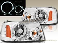 01-11 Ford Ranger Crystal Headlights Chrome Housing CCFL Halo Rims Angel Eyes