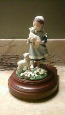 1993 #'d Limited Edition Amish Heritage Sadie Mae Music Box Figurine Girl 30011