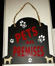 Personalized hanging beware of dog Pet On Premises warning sign Design your own!