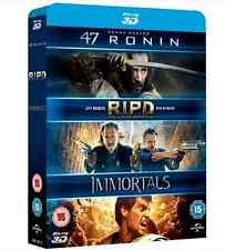 47 Ronin 3D / RIPD 3D/  Immortals 3D  (Blu-ray) Three 3D Movies