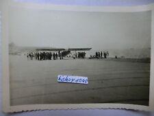 Foto mit Flugzeug Aufklärer Fieseler Storch + Balkenkreuz in Dünkirchen.