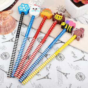 2pcs Colors Random Cartoon Magic Writing Drawing Pencil Eraser For Kids ChilI JN