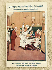 Simpson's-in-the-Str and Ad Postcard London Uk 1908 Vintage Divided Back