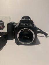 New ListingPentax 645 Medium Film Camera Body with 120 film Holder and Grip