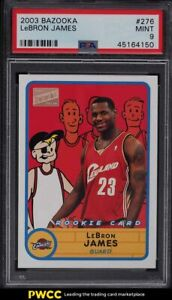 2003 Bazooka Basketball LeBron James ROOKIE RC #276 PSA 9 MINT