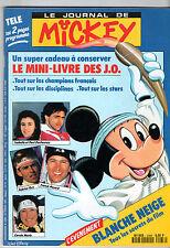 LE JOURNAL DE MICKEY n°2068 ¤ 1992 ¤ + CADEAU MINI-LIVRE SPECIAL JO ALBERTVILLE