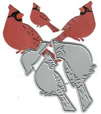 Dies...to die for metal cutting craft die Cardinal Family trio - Sitting