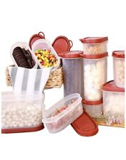 3 Pcs Plastic Cereal Dispenser Set Dry Food Snack Nut Storage Containers White