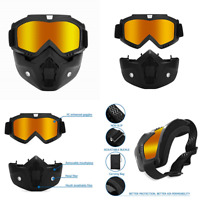 Paintball Mask Adjustable Goggles Anti Fog Full Face Thermal Tinted W Eye Protec