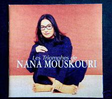 LES TRIOMPHES DE NANA MOUSKOURI, 2CD, 38 TITRES, OCCASION, TRES BON ETAT