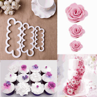 F 3 PCS Kitchen Flower Mould Petal Cutter Cake Icing Tool Cake Sugarcraft Decor