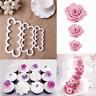 3PCS Rose Flower Petal Cutter Fondant Icing Tool Cake Sugarcraft Mould Decor
