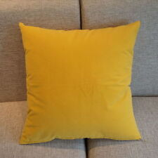 "Solid Micro Suede Pillow Case Dark Yellow Candy Color Cushion Cover 19"" Pg05"