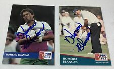 lot of 2 hand signed autographed PGA Pro Set cards ~ HOMERO BLANCAS