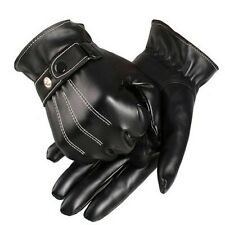 HOT Mens Cashmere Leather Winter Gloves Driving Super Warm Gloves Mittens Gifts