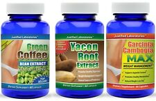 Green Coffee Bean Cleanse Yacon Root Non Syrup Garcinia Cambogia  Weight Loss