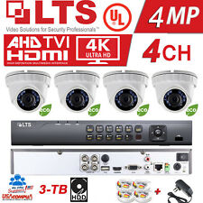 LTS  Security System KIT H.265 1080P W/ 4 Cameras / 3TB HARD DISK