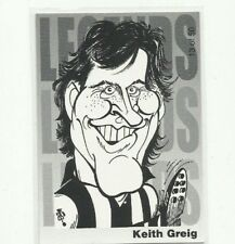 2003 AFL KANGAROOS NORTH MELBOURNE KEITH GREIG WEG ART LEGENDS CARD # 13