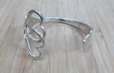 Sterling Silver Tiffany & Co Handmade Fork Wrap Cuff Bracelet 47.4grams 17-I4073