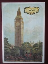 POSTCARD LONDON BIG BEN - LINEN TYPE CARD - ILLUSTRATED LONDON NEWA 1859