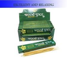 Nandita Wood Spice Incense Sticks 12 packs of 12 sticks (144 sticks total)