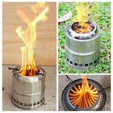 Portable Outdoor Camping Steel Wood Stove Tent Heater for Fishing Camp Cooking