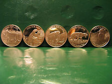 """ICE AGE"" Series 5 1 oz .999 Copper Rounds (5 Different Animal Rounds)"