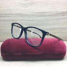 dc3e13a0a7 Gucci GG0018O 0018O Eyeglasses Blue Havana 003 Authentic 52mm