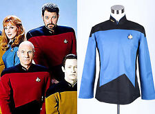 Star Trek TNG The Next Generation Uniform Shirt Costume Blue *Tailored*