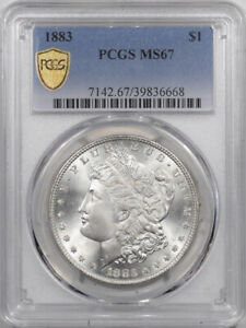 1883 MORGAN DOLLAR - PCGS MS-67 BLAST WHITE, PRISTINE & PREMIUM QUALITY!