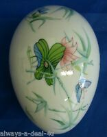Georges Boyer Limoges France Butterfly Porcelain Jewelry / Trinket Box / Egg