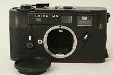 Leica M5 35mm Rangefinder Film Camera Body Black [Very good] from Japan (06-N96)