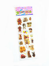Xmas Cute Cartoon Dog Bubble Removable Stickers Scrapbook Kids Birthday A1s