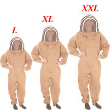 Professional Cotton Full Body Beekeeping Bee Keeping Suit +Veil Hood L/Xl/Xxl