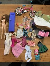 Barbie Lot With Accessories Bicycle Salon Clothing Handbags